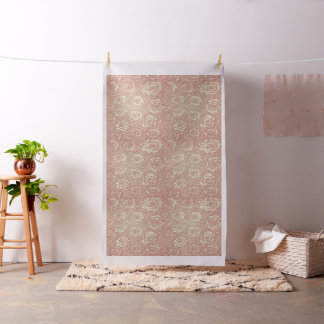 Pink Roses Brocade Fabric