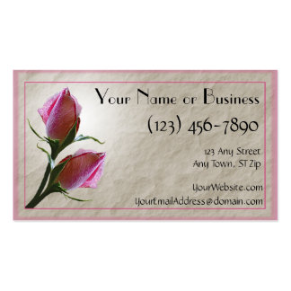 Pink Roses Card Template Double-Sided Standard Business Cards (Pack Of 100)