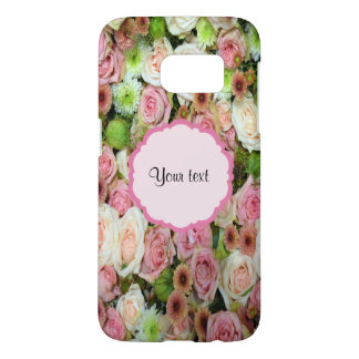 Pink  Roses & Chrysanthemums Samsung Galaxy S7 Case