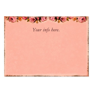 Pink Roses Design Business Profile Card Business Card Templates