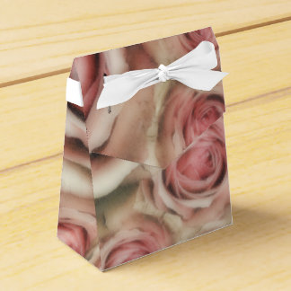 Pink Roses Elegant Bridal Shower Shabby Chic Favor Box