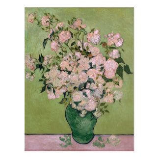 Pink Roses (F682) Van Gogh Fine Art Postcard