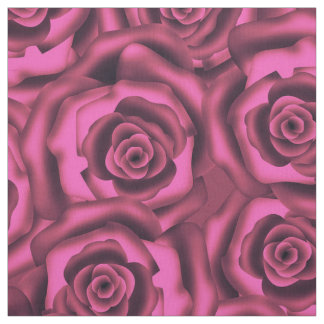 Pink roses fabric