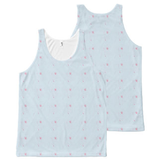 Pink-Roses-Floral-Blue-Style(c)-Tank-Top