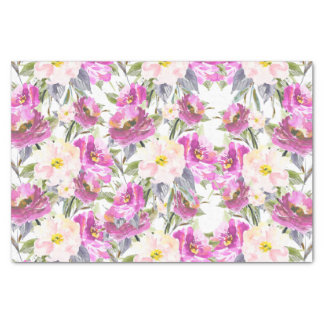 Pink Roses Floral Tissue Paper