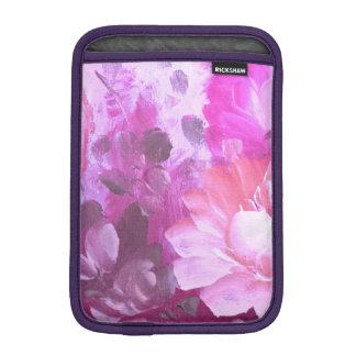 Pink Roses Flowers Vintage Art iPad Sleeve