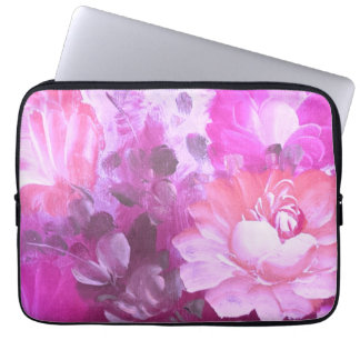 Pink Roses Flowers Vintage Art Laptop Sleeve