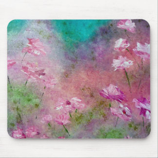 Pink Roses Garden Art Mouse Pad