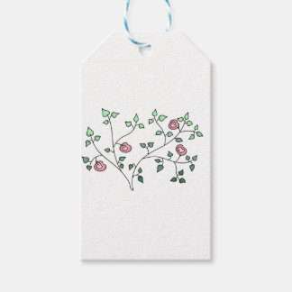 Pink Roses Gift Tags