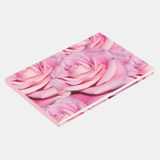 Pink roses guest book