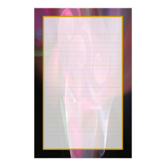Pink Roses in a Vase Fine Lined Stationery