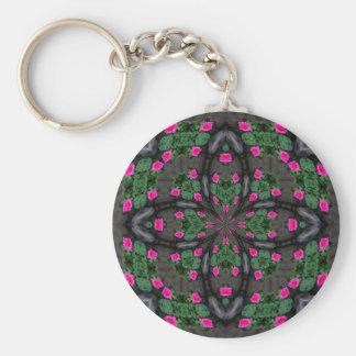 Pink Roses Kaleidoscope keychain