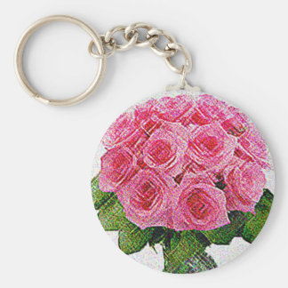 Pink roses keychain