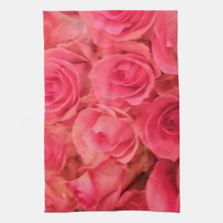 Pink Roses Kitchen Towel