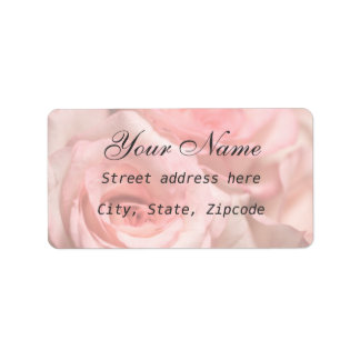 Pink Roses Label