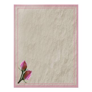 Pink Roses Letterhead