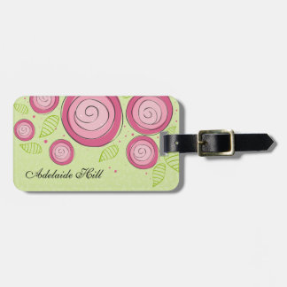 Pink Roses Luggage Tag