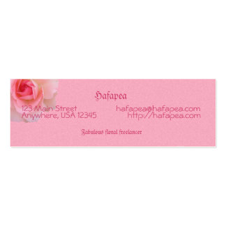 Pink Roses Mother's Day Business Card Templates