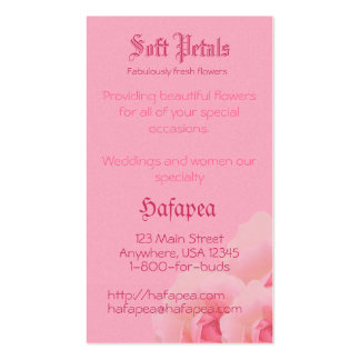 Pink Roses Mother's Day Pack Of Standard Business Cards