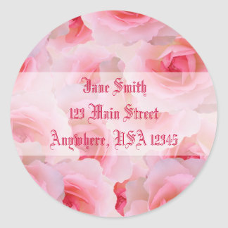 Pink Roses Mother's Day Classic Round Sticker