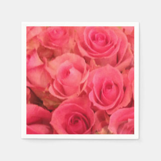 Pink Roses Napkins Disposable Napkin