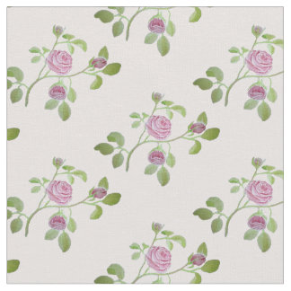 Pink Roses on Pink Background Fabric