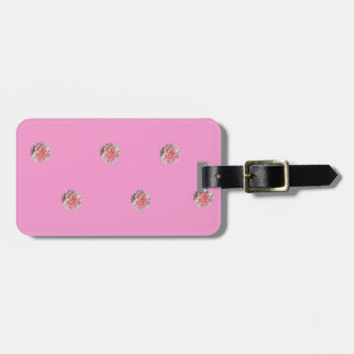 Pink Roses on Pink Luggage Tag