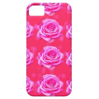 Pink Roses On Sparkle Pink Bokeh,- iPhone 5 Case