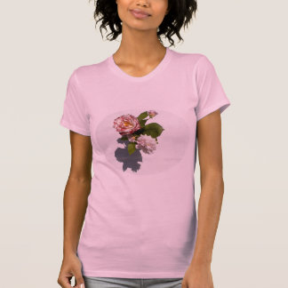 Pink Roses on T-shirt
