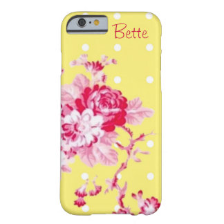 Pink Roses On Yellow iPhone 6 case Barely There iPhone 6 Case
