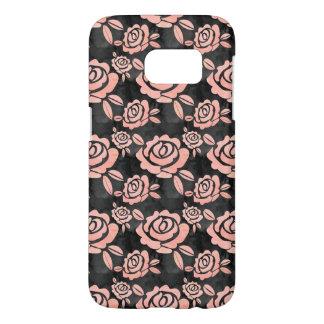 Pink Roses ona a Black Backround Samsung Galaxy S7 Case