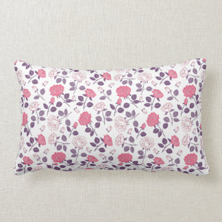Pink roses pattern Lumbar pillow
