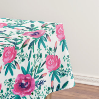 Pink Roses Pattern Tablecloth