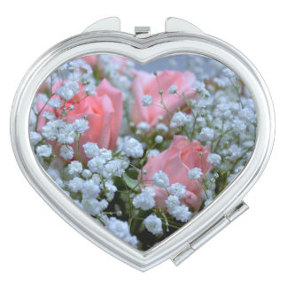 Pink Roses Photo Travel Mirrors