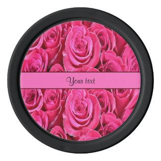 Pink Roses Poker Chips