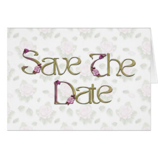 Pink Roses Save the Date Stationery Note Card