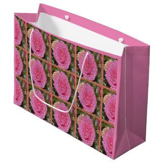 Pink Roses Squares Mosaic Art Gift Bag