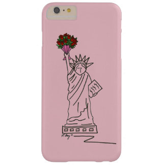 Pink Roses Statue of Liberty NYC Valentine Case