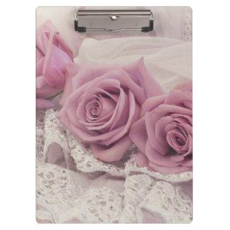 Pink Roses Still Life Clipboard