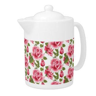 Pink Roses Teapot