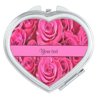 Pink Roses Vanity Mirror
