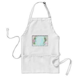 Pink Roses Victorian Style Design Adult Apron