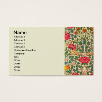 Pink Roses Vintage Chintz Pattern Business Card