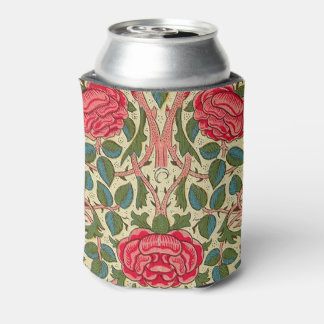 Pink Roses Vintage Chintz Pattern Can Cooler