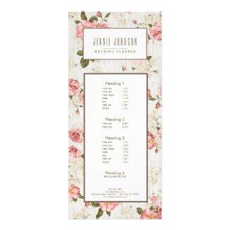 Pink Roses Vintage Floral Pattern Business