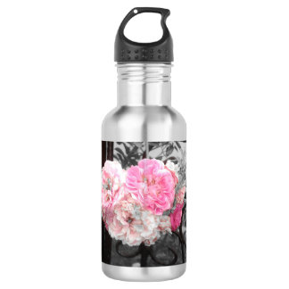 Pink Roses Vintage Style 532 Ml Water Bottle