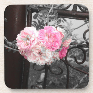 Pink Roses Vintage Style Coaster