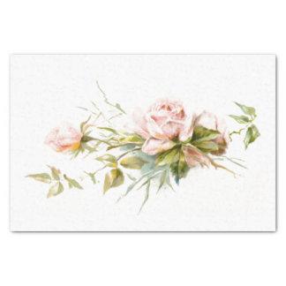 Pink Roses Vintage Tissue Paper
