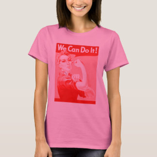 """Pink Rosie the Riveter """"We Can Do It!"""" T-Shirt"""