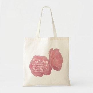 Pink Rosy tote bag